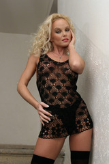 strip tease picture of the porn star Silvia